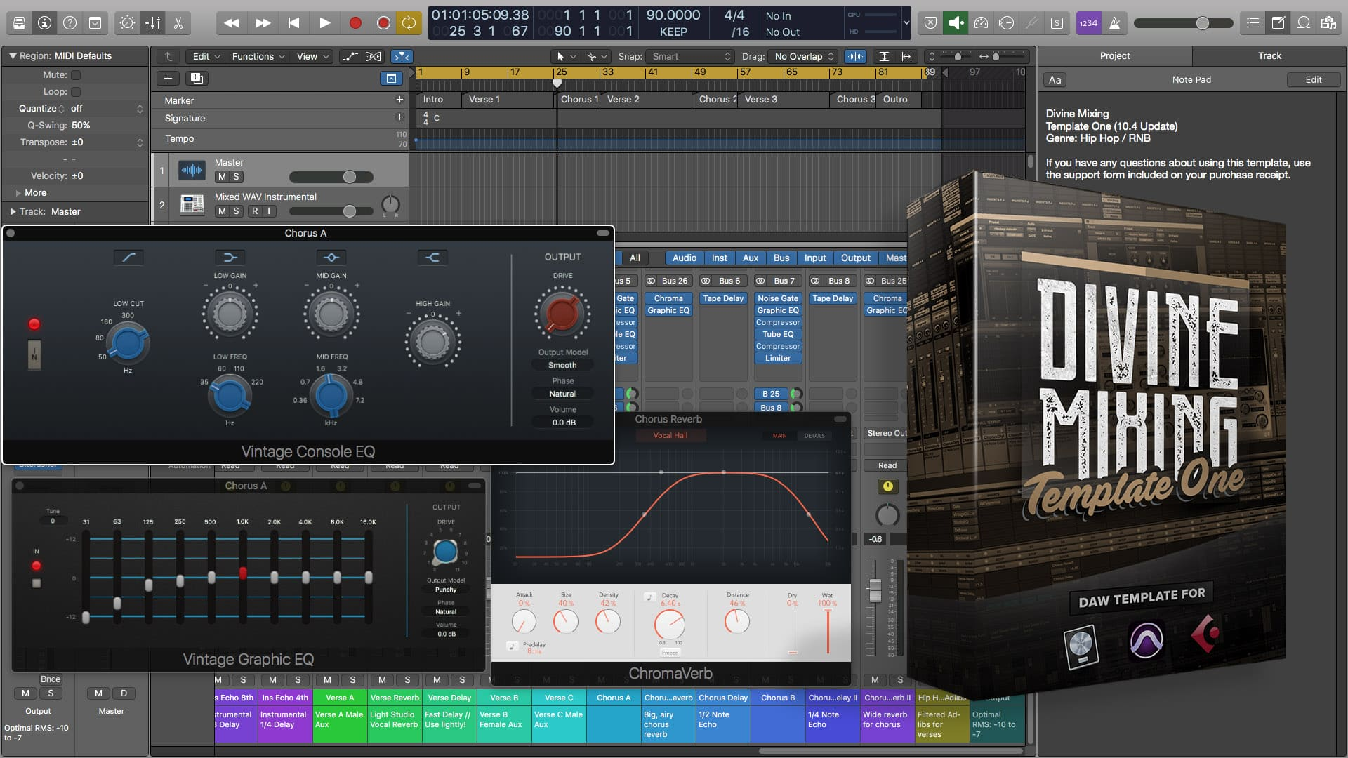 Divine Mixing Template One Logic Pro X 104 Free Update