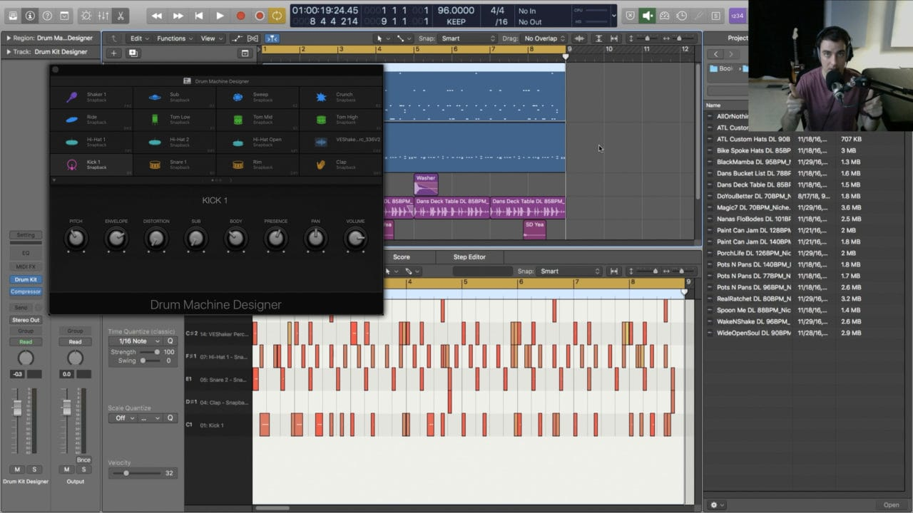 Drum Programming with Logic Pro X Stock Plugins
