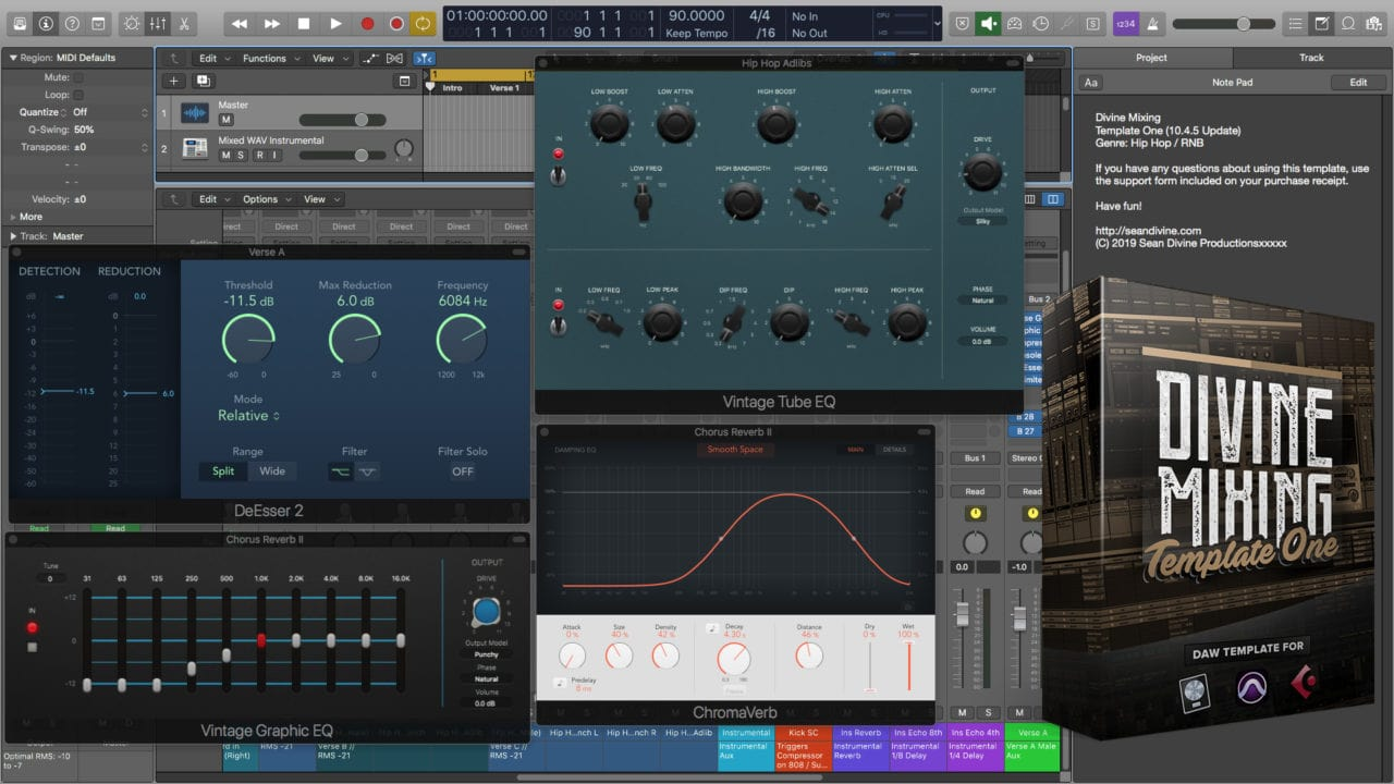 Divine Mixing Template One - Logic Pro X 10.4.5 Update