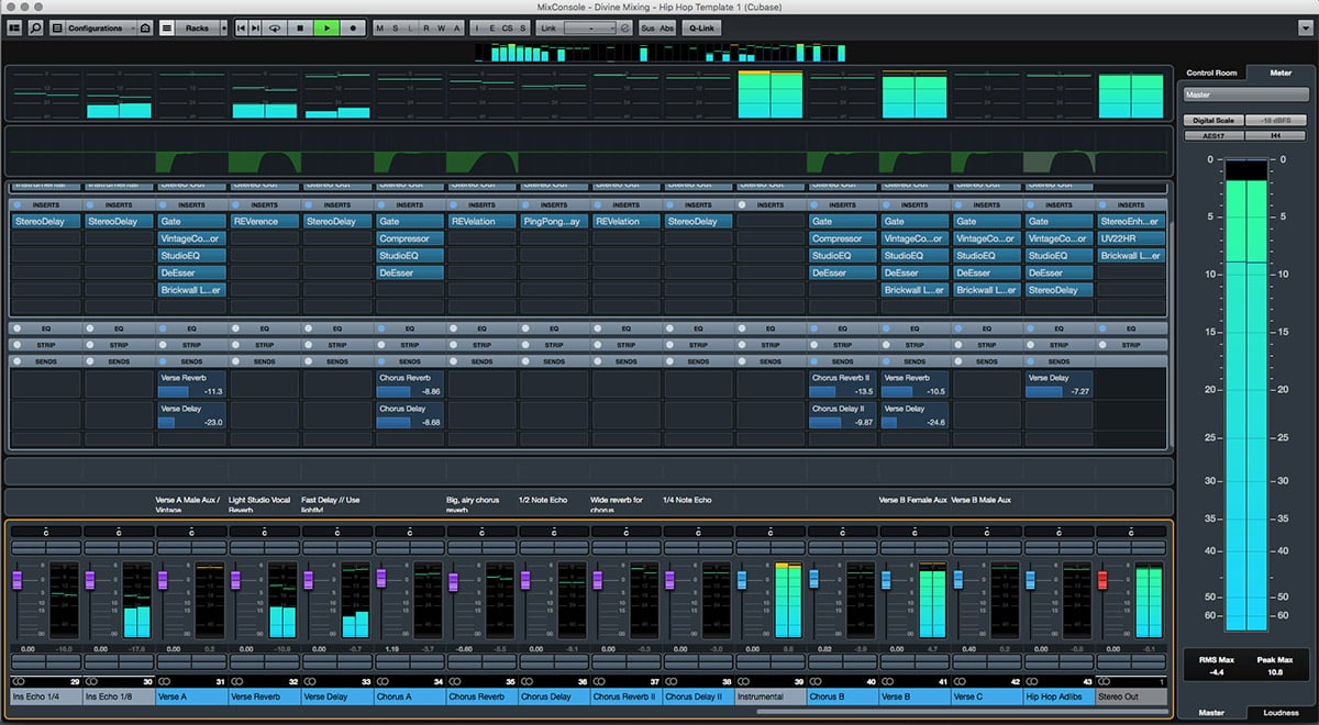 Divine Mixing Template One - Cubase