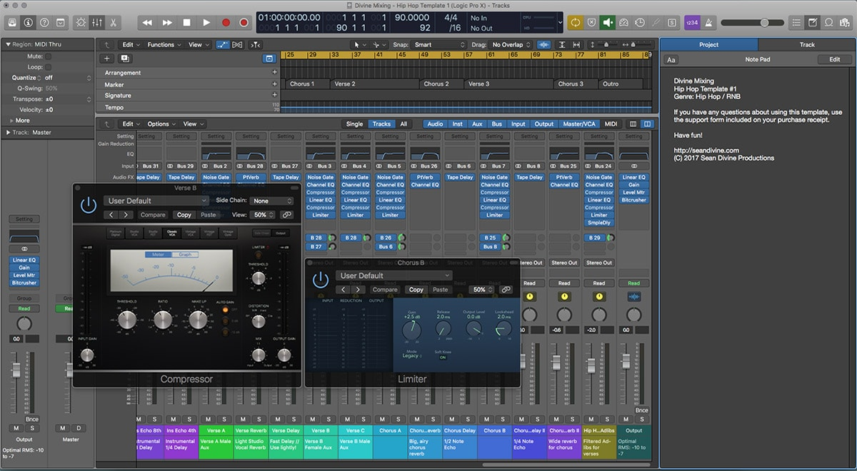Divine Mixing - Session One (Logic Pro X)