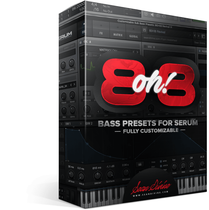 8oh!8 - 808 Presets for Serum by Sean Divine