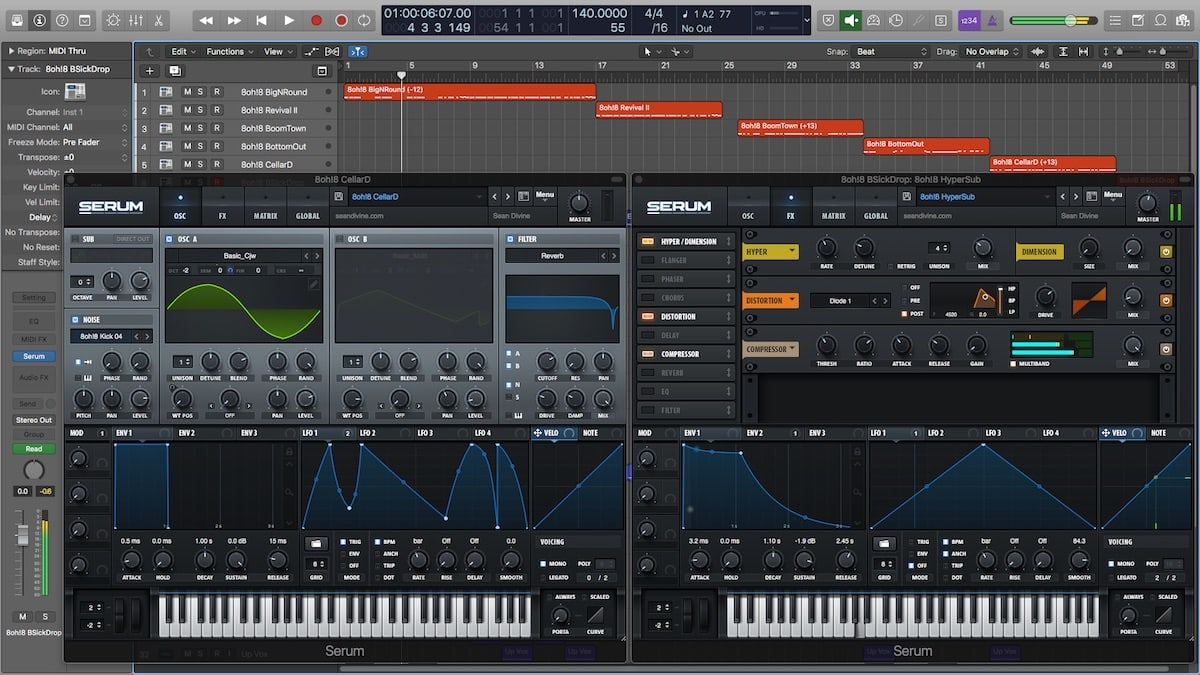 Sean Divine 8oh!8 Screenshot (Logic Pro X)
