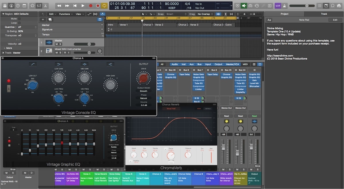 Divine Mixing Template One - Logic Pro X
