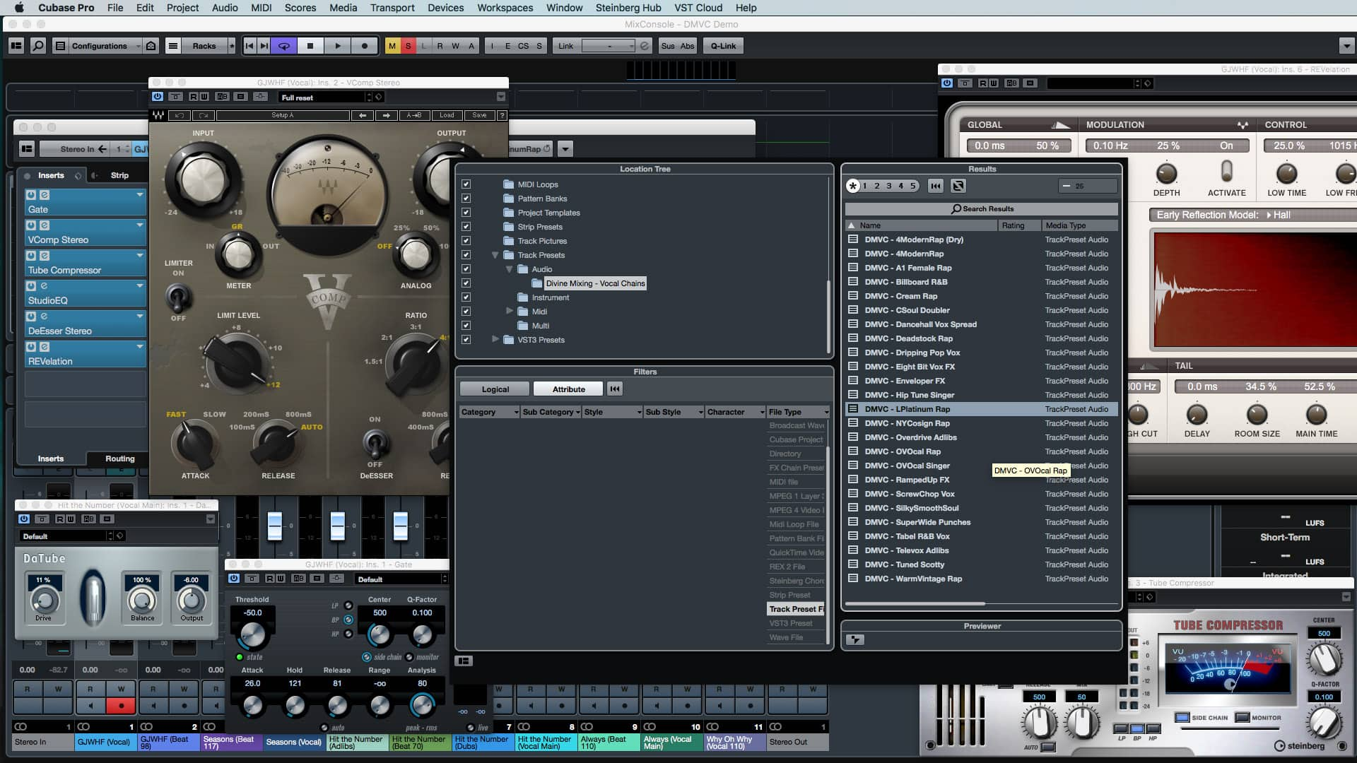 Divine Mixing - Vocal Chains for Cubase Pro (Screenshot)