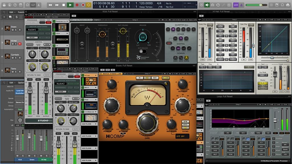 Divine Mixing - Drum Chains (Drum Mixing Presets for Waves Gold and Studio Rack)