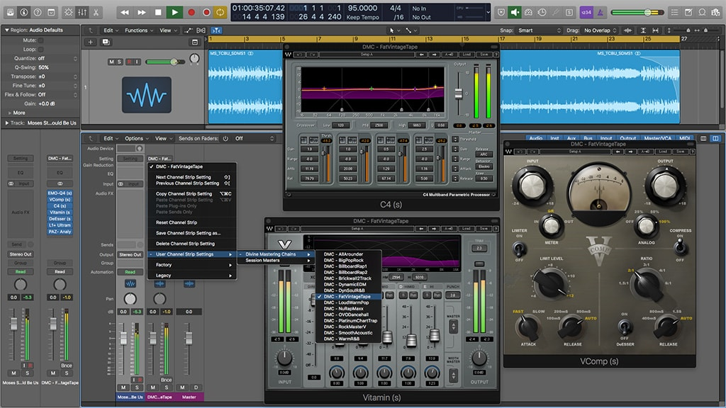 Divine Mixing - Vocal Chains V2 for Waves Studio Rack (Screenshot)