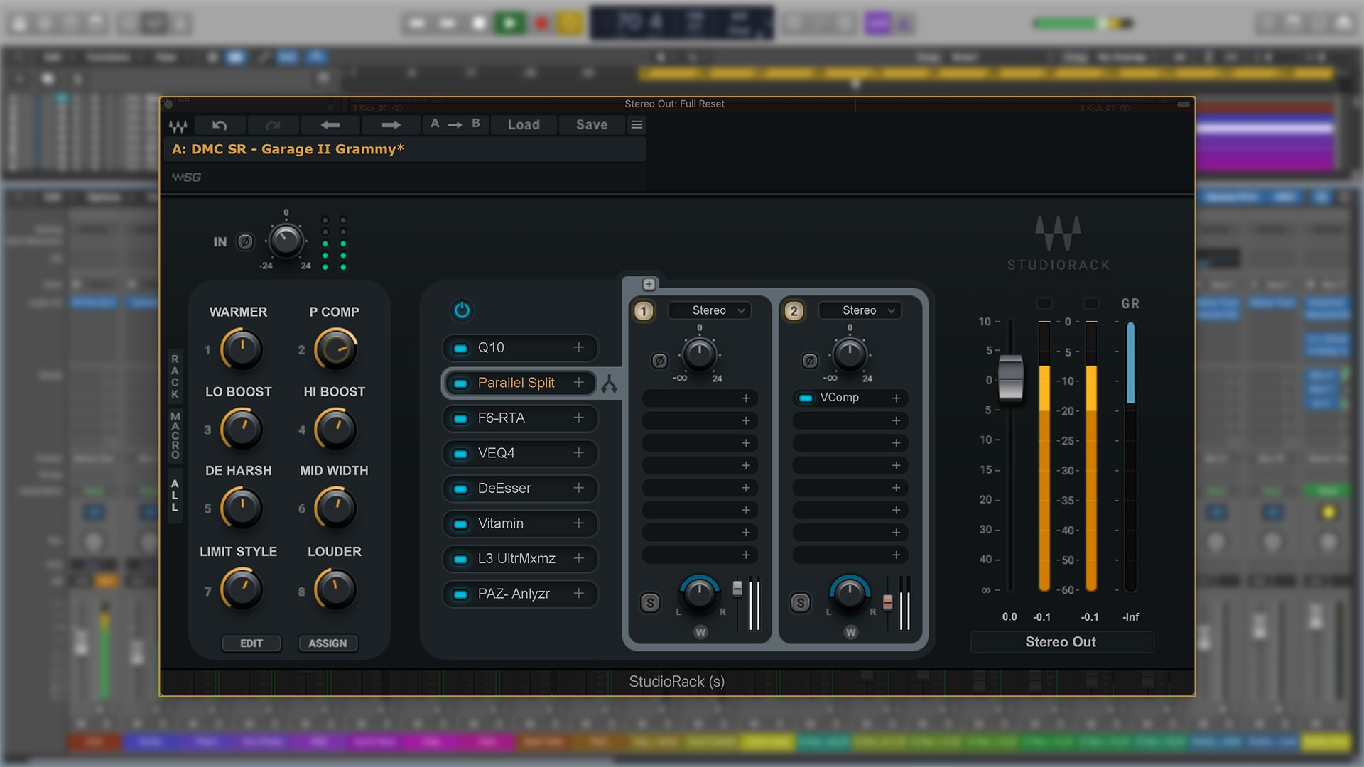 Divine Mastering Chains SR - Waves StudioRack (Screenshot)